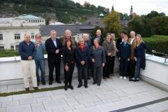 Auf der Terrasse des Mozarteums